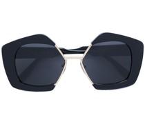 Sonnenbrille mit geometrische Gestell