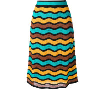 high waisted knitted skirt