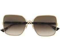 Oversized-Sonnenbrille mit farbigen Gläsern