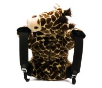 faux fur giraffe backpack