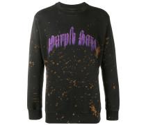 Sweatshirt mit Farbklecks-Print