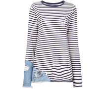 Top mit Jeans-Patch