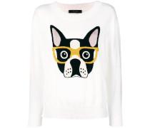 Pullover mit Intarsien-Hundemotiv