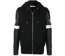 contrast hooded bomber jacket