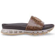 Sandalen mit FF-Print