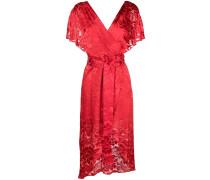 baroque floral wrap dress