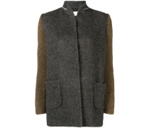contrast fitted blazer