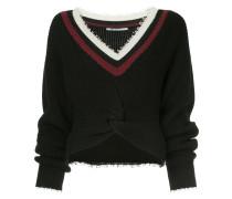 Cropped-Pullover mit langen Ärmeln