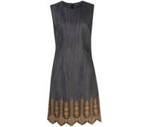Kleid mit besticktem Saum