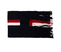 Gestreifter Schal mit Logo