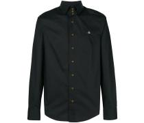 Button-down-Hemd mit Logostickerei