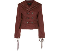 G.V.G.V. lace trimmed double breasted cropped jacket
