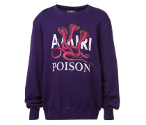 """Sweatshirt mit """"Poison""""-Slogandesign"""