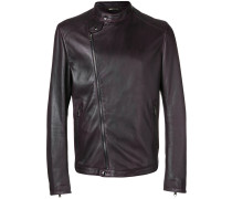 off-centre zipped jacket