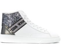 High-Top-Sneakers mit Glitzer