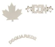 Broschen-Set mit Logo