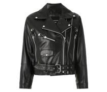 + Kalline leather biker jacket