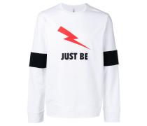 "Sweatshirt mit ""Just Be""-Print"