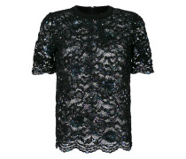 sequined tulle T-shirt