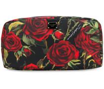 Kosmetiktasche mit Rosen-Print