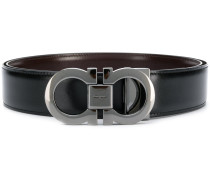 Gancini buckle reversible belt