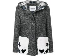 Mantel mit Pelztaschen