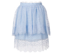 lace detail frill skirt