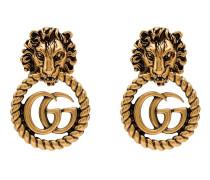 Vergoldete Ohrringe mit Löwenkopf