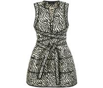 animal print plunge dress