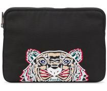 Clutch mit Tiger-Stickerei