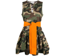 P.A.R.O.S.H. Bluse mit Camouflage-Print