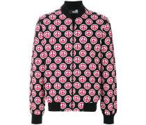 peace symbol print jacket