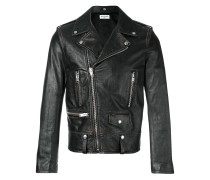Bikerjacke in Distressed-Optik