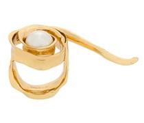 'Wild Rose' Ring mit Perle