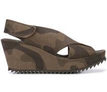 camouflage print platform sandals