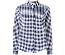 frilled sleeve gingham shirt