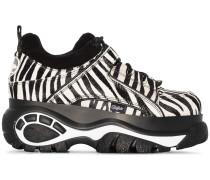 Flatform-Sneakers mit Zebra-Print