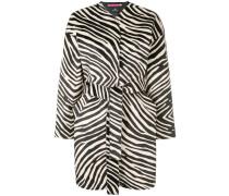 Mantel mit Zebra-Print