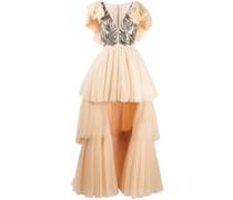 Abendkleid im Layering-Look
