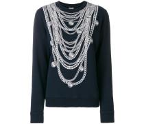 Sweatshirt mit Halsketten-Print
