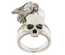 'Raven and Skull' Ring