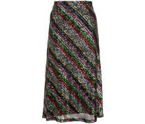 sequinned midi skirt