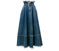 frayed edge skirt