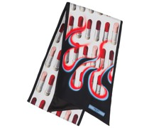"""Schal mit """"Double Match Lipstick""""-Print"""