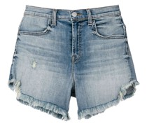 Jeansshorts mit ausgefransten Details