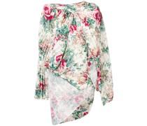 Asymmetrische Bluse mit Blumen-Print