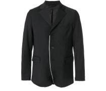 frayed contrast trim blazer