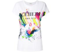 logoed rose T-shirt