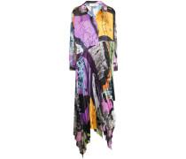 colour-block flared dress