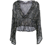 loose patterned blouse